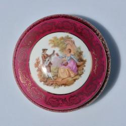 Porcelánová šperkovnička Srdce Cottage Rose, Taiwan 9x9x5 cm