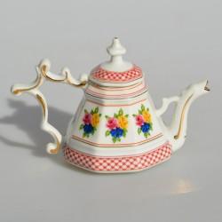 Miniatúra - porcelánový čajník Porcelain Art 100 ml, dekorácia