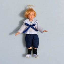 1:12 Chlapec -porcelánová bábika do domčeka pre bábiky