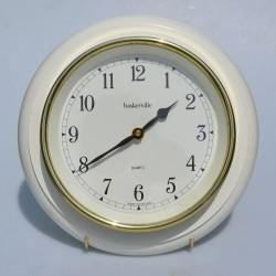 Drevené nástenné hodiny 34x34 cm, funkčné - záruka sa nevzťahuje na funkčnosť mechanizmu hodín
