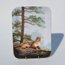 Porcelánový tanier The Wolves Lie Low, Bradford 22x16 cm + certifikát, orig.obal