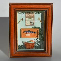 3D obraz  Rybárstvo 22,5x18x 3,5 cm