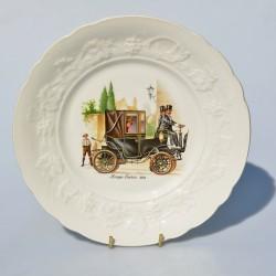 Porcelánový tanier Krieger Electric 1904, priemer 24 cm, krakelovanie
