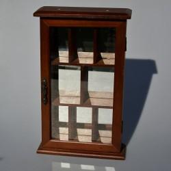 Drevená skrinka - šperkovnica so zrkadlom a maľovaným sklom 26 x21,5x12 cm