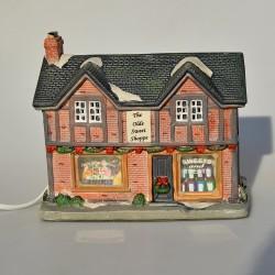 Keramický domček - lampa Antique 15x19x10,5 cm, FUNKČNÁ, záruka sa nevzťahuje na funkčnosť, v pôvod.balení