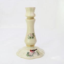 Porcelánový svietnik Fialky, Victoria, Czechoslovakia  14,8x8 cm