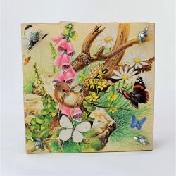 Drevený lis na rastliny Myška 15x15x6 cm