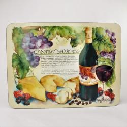 Sada - 6 ks podložky pod taniere Víno, Jason 28x21 cm, v pôvod.obale