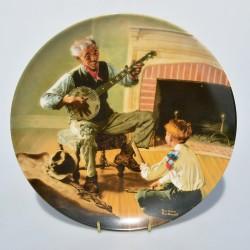 Porcelánový tanier The Professor, Knowles 21,5 cm + certifikát, orig.obal