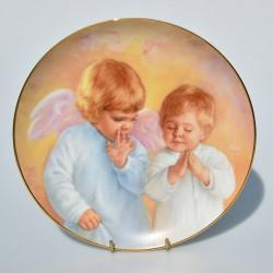 Porcelánový tanier Caught in the Act, Artaffects, 23 karát zlato, 20,8 cm + certifikát,orig. obal
