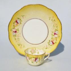 Starožitný keramický tanier Plachetnice, Villeroy&Boch  30 cm, oťuk 0,4 mm