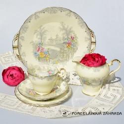 Sada starožitný porcelánový tanier a šálka TLK 180 ml