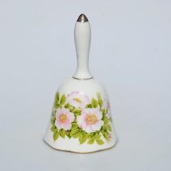 Porcelánový zvonček Jesenné kvety 18x7,5 cm