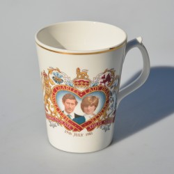 Porcelánový hrnček s uškami, The Marriage of Charles and Diana, objem 320 ml