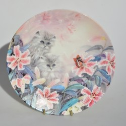 Porcelánový tanier A Curious Kitty, W.S.George 21 cm