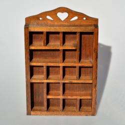 Drevená skrinka na 10 náprstkov 22x7x2,7 cm