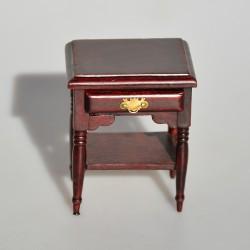 1:12 Drevený nočný stolík, skrinka Ruže 6x5,5x4 cm