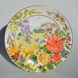 Porcelánový tanier Kráľovna Elisabeth II., Staffordshire, 19 cm