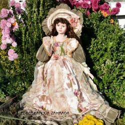 Alberon 67 cm Vysoká zberateľská porcelánová bábika Antoinette + stojan, pôvod.balenie, certifikát