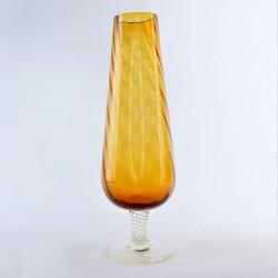 ? cena Sklenená váza na nožičke 25,5 cm