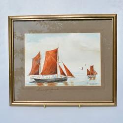 Obraz originál Plachetnica Jopsail Schooner 32,5x27,5 cm