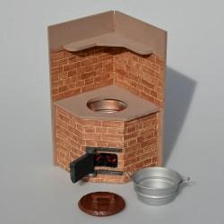 1:12 Keramické umývadlo, drez so zátkou do domčeka pre bábiky 7,5x6x3,5 cm