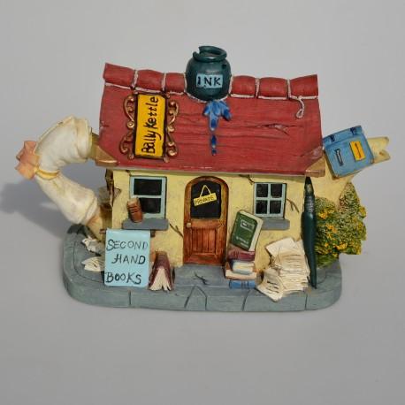 Zberateľský čajník -domček TellTale Teapot -Paddy, 13x18,5x11 cm, oťuk na komíne