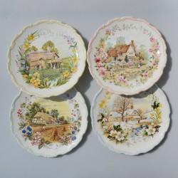 predané Sada ROYAL ALBERT porcelánové taniere Zvieratká-4 ročné obdobia 21 cm