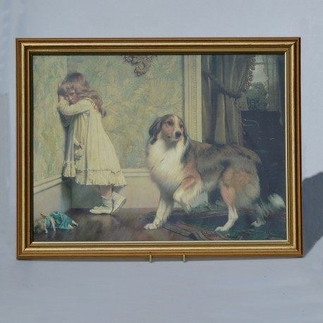 predane Veľký obraz - print A Special Pleader, Charles B. Barber 73,5x57 cm