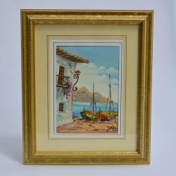 predane Obraz - olejomaľba Na brehu mora 28x23 cm
