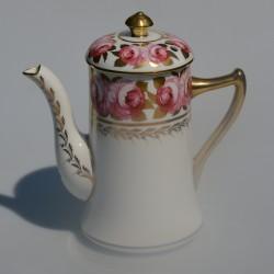Starožitný porcelánový čajník, znač.2160, krakelácia- iba dekor, 28x16 cm