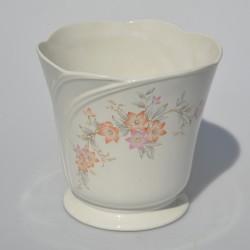 reserve pre lubku Starožitná porcelánová miska / črepník Bielomodré kvety 600 ml, na dne misky od výroby 2 čierne bodky