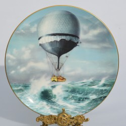 "Porcelánový tanier "" Flight over The Alps """
