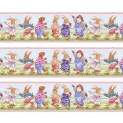1:12 Bordúra na tapety do domčeka Modré medvedíky - 1 kus A4